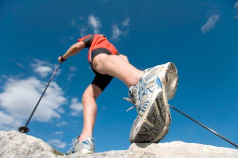 Nordic walking uses 90 per cent of your body's major muscles